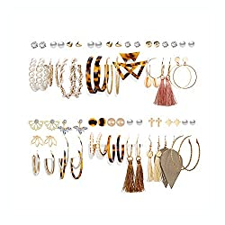 36 Pairs Fashion Tassels Earrings Set For Women And Girls